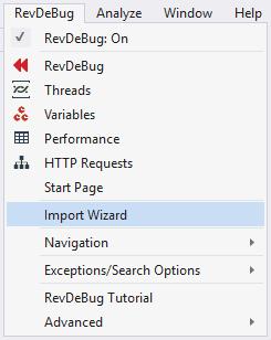 RevDeBug Import Wizard
