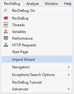 RevDeBug Import Wizard