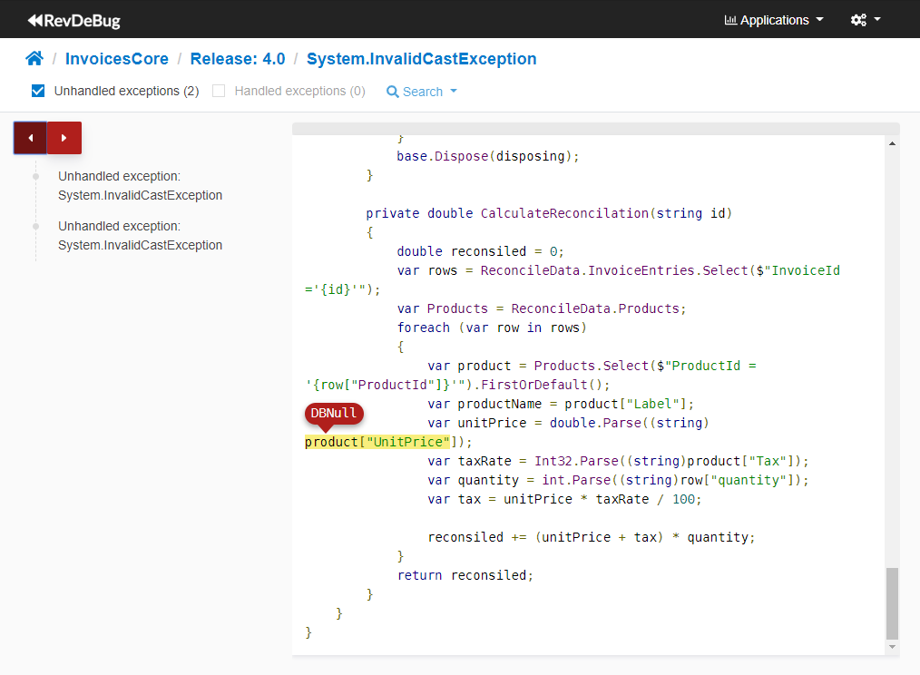 DevOps Monitor code view