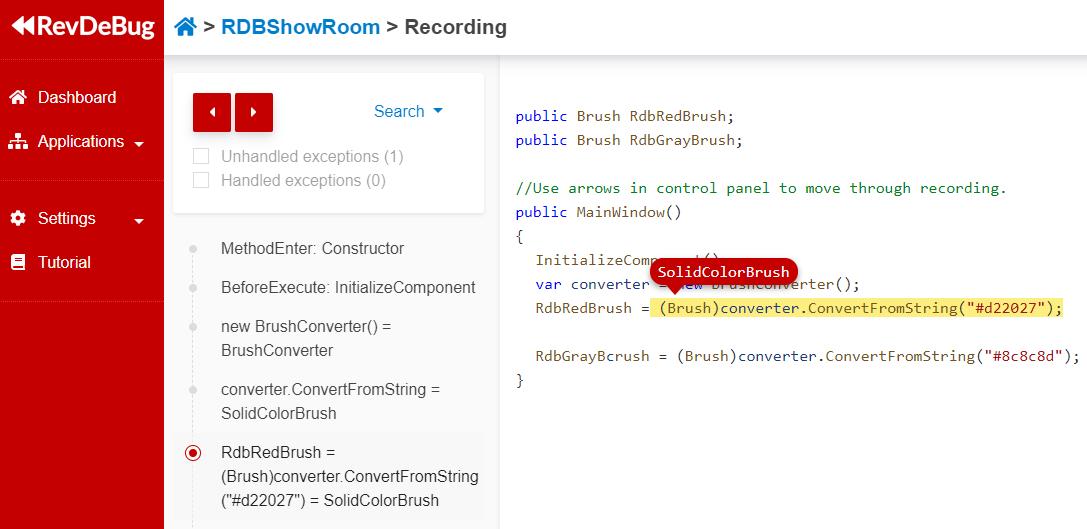 Monitor - code view